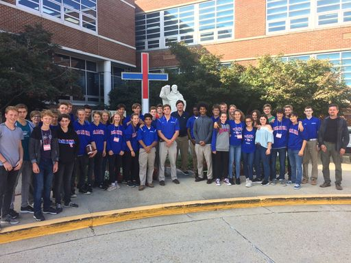 Austrian Students Visit DeMatha